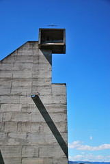 Le Corbusier with Iannis Xenakis, Monastery of Sainte-Marie de La Tourette (neil mp) Tags: summer holiday france architecture modern concrete dominican lyon modernism belltower campanile monastery lecorbusier convent priory brutalism summerholiday latourette saintemarie modernmovement eveux reinforcedconcrete larbresle xenakis btonbrut iannisxenakis veux neilmp metastaseis