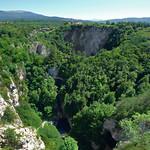 Škocjan village on top of it's sinkhole