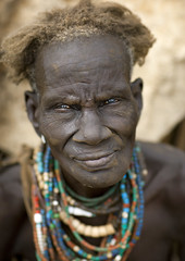 Old Dassanetch woman - Ethiopia (Eric Lafforgue) Tags: old woman artistic culture tribal dai ornament elder tribes bodypainting tradition tribe ethnic rite tribo necklaces adornment pigments ethnology tribu eastafrica thiopien etiopia ethiopie etiopa 9722  etiopija ethnie ethiopi  dassanech etiopien etipia  etiyopya  nomadicpeople dasanegh    dasanech dassanetch   daasanach    dashenet dasaneshtribe dasenech peoplesoftheomovalley