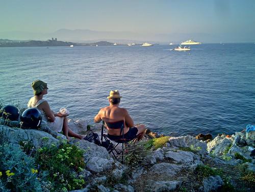 Cabo de Antibes, fim de tarde
