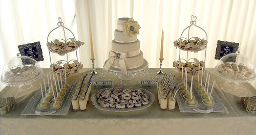 Ivory Wedding Dessert Table