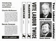 Labour Region and District Council Election Leaflet, 1974 (Scottish Political Archive) Tags: party 1974 scotland election district stirling scottish labour council publicity region campaign mckeown canavan