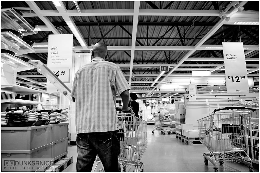 Ikea B&W.