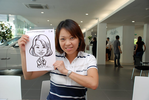 Caricature live sketching for Performance Premium Selection first year anniversary - day 2 - 17