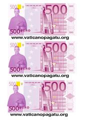 vaticano EURO FRONTE (Vaticanopagatu) Tags: euro mario vaticano protesta 500 tu ratzinger facebook ici bertone paga adesivi volantini manovra radicali ires bagnasco staderini 8xmille vaticanopagatu pagaci