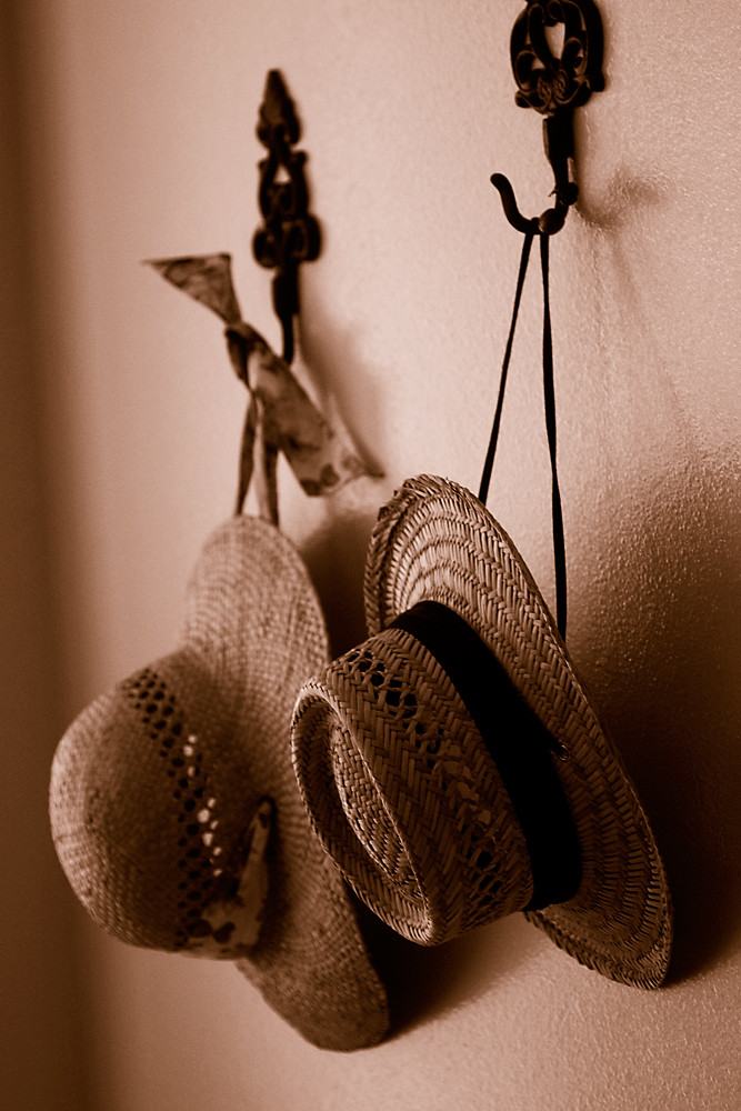 Sepia 2/30:  A Place to Hang Your Hat