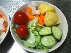 朝食サラダ(2011/8/29)