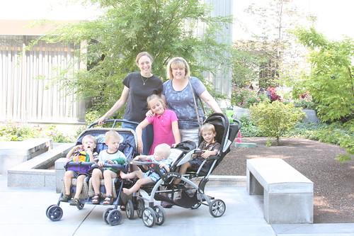 Nana, me, Grandkids Temple Square 2011