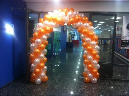 Ballonboog 6m Oranje Wit Erasmus Universiteit Rotterdam
