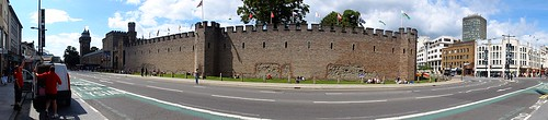 Cardiff Castle Walls Panorama