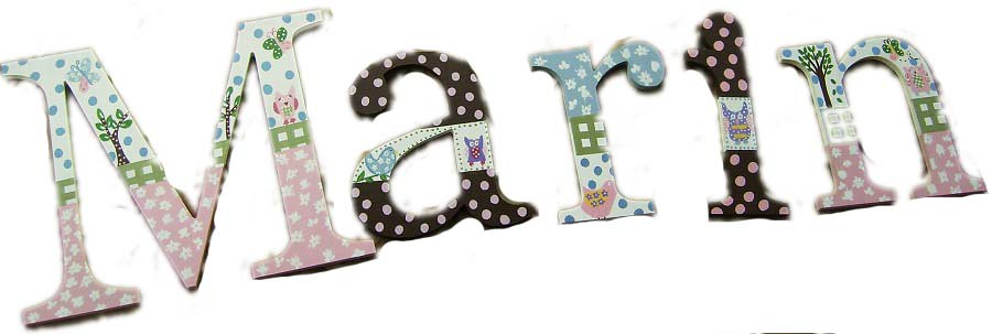 Wall Letters M2M Pottery Barn Kids Hayley Bedding