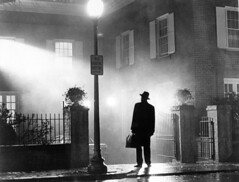 The Exorcist (pollytipsy) Tags: light people house photography 1 fear eerie horror males whites swedes priests blackandwhitephotography europeans moviestill dwelling exorcism scandinavians fictionalcharacter maxvonsydow exorcists theexorcistmotionpicture1973 fathermerrin
