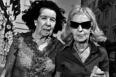 Two women (Maurizio Costanzo - mavik2007) Tags: street people calle strada exterior gente candid strasse flash streetphotography rue blackwhitephotos fotografiacallejera sb900 it5 mavik nikonflickraward woman60yearsandolder exteriorwalking