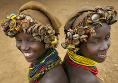 Dassanetch girls with caps wigs - Ethiopia (Eric Lafforgue) Tags: girls artistic culture tribal dai ornament wig tribes bodypainting tradition tribe ethnic hairstyle rite tribo adornment pigments ethnology tribu eastafrica thiopien etiopia ethiopie etiopa 9223  etiopija ethnie ethiopi  dassanech artlibre etiopien etipia  etiyopya  artlibres nomadicpeople dasanegh    dasanech dassanetch   daasanach    dashenet dasaneshtribe dasenech peoplesoftheomovalley