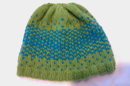 reflection hat 4sept11 by KnitterinProgress
