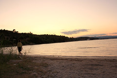 walk on the beach (Konstantinos.Kapa) Tags: sunset summer greece chalkidiki vourvourou