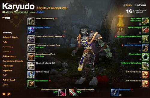 Karyudo @ Arathor - Game - World of Warcraft