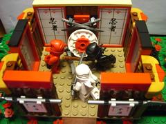First Floor (The Potato Lord) Tags: flowers garden temple pond lego ninja bamboo dojo moc ninjago