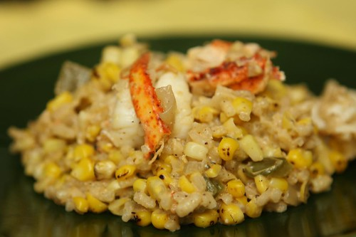 Lobster Ale Risotto with Grilled Corn