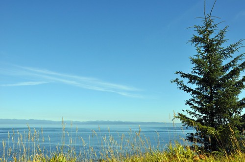 Vancouver island, the view from the Salt Creek campground, Olympic National Park