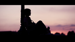 In My Head. (Stefano Santucci - www.stefanosantucci.it) Tags: street city bridge sunset shadow portrait people urban italy woman sun man sunrise canon river photography eos florence dof bokeh candid fiume profile streetphotography tuscany firenze arno cinematic stefano santucci 135l canoniani 5dmarkii 5d2 5dmii streettogs tastino0 tastino0photography0