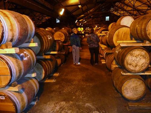 Maturing Whisky Casks at Auchentoshan Distillery