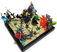 Last stand on Reach (tbone_tbl) Tags: last stand marine jackal lego iii halo scene ii elite dio reach vignette diorama grunt spartan vig unsc