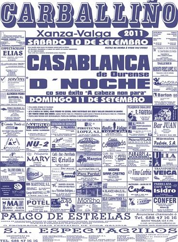 Valga 2011 - Festas en Carballiño- Xanza - cartel