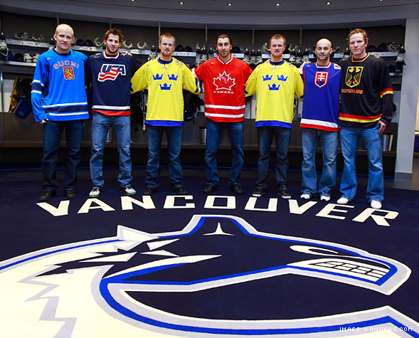 The Vancouver Canuck Olympians in 2010