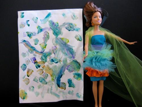 Model and art