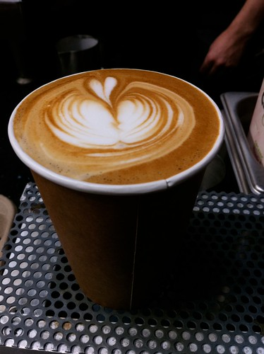 Later shot of my Blue Bottle Coffee Latte