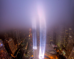 A Preview of the 2011 Tribute in Light (9/11 Memorial) # 3 (RBudhu) Tags: nyc newyorkcity ny newyork worldtradecenter 911 september112001 twintowers gothamist neverforget groundzero newyorknewyork batteryparkcity worldfinancialcenter lowermanhattan whotel tributeinlight wfc urbanskyline 7wtc 911memorial downtownmanhattan 7worldtradecenter freedomtower sevenworldtradecenter threeworldfinancialcenter downtownclub oneworldfinancialcenter twofinancialcenter 123washingtonstreet 9112010