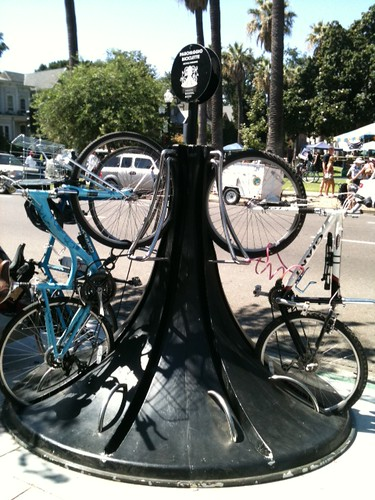 Downtown Sacramento bike racks