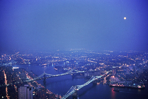 World Trade Center Observation Deck, 1980: Moonrise Over Brooklyn