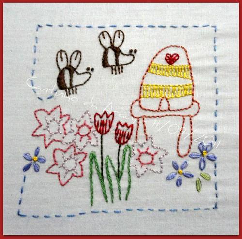 11/09/2011 - mais um bordado do Flowerbed by Cantinho da Aracy
