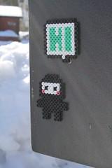 Street Art Hama Beads (lwordish2010) Tags: streetart sweden ninja västerhaninge hamabeads