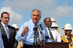 "Secretary of Transportation LaHood Explains the Importance of Job-Creating Infrastructure Investments Such at the 11th Street Bridge • <a style=""font-size:0.8em;"" href=""http://www.flickr.com/photos/51922381@N08/6141419254/"" target=""_blank"">View on Flickr</a>"