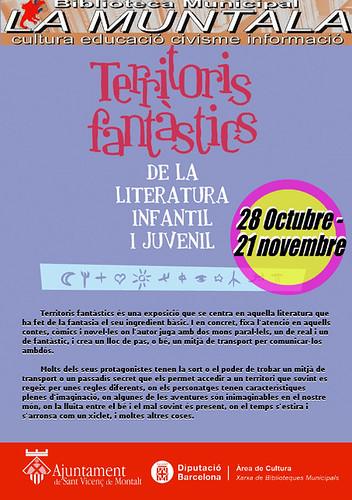 Exposició: Territoris fantàstics de la literatura infantil i juvenil 29 octubre - 21 novembre by bibliotecalamuntala