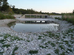 The Nueces River is reduced to a pond, at Montell