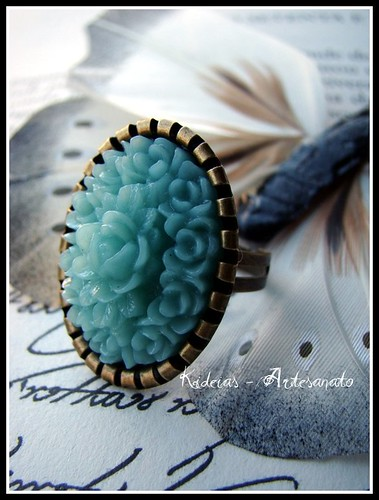 ♥ Vintage Ring - Blue ♥ by kideias - Artesanato