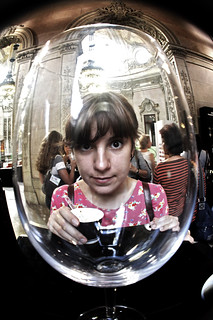 ana through the drinking glass