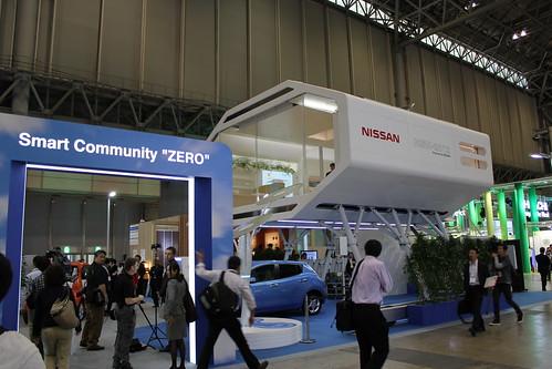 "CEATEC JAPAN 2011に展示された未来型スマートハウス ""NSH-2012"""