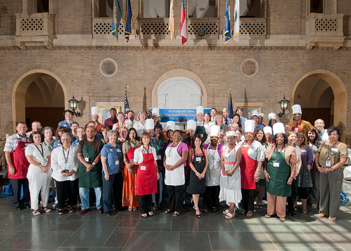 USDA employees volunteered as Flavors of USDA Chefs and Servers to support Feds Feed Families.