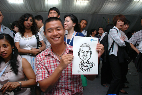 caricature live sketching for Singapore International Water Week Closing Dinner - 21