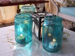 mod podged candle jars