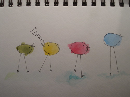 tweet...  my second try at watercolors