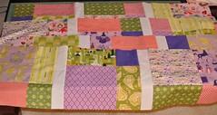 girl quilt, in progress