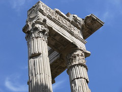 "Temple of Apollo ""in Circo:"" entablature (Roger B. Ulrich) Tags: frieze cornice architrave romantemple trabeazione corinthianorder apolloincirco romancorinthian apollososianus ordrecorinthien chapiteaucorinthien fasciae classicalentablature augustanarchitecture apollomedicus"
