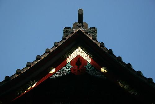Illuminated temple