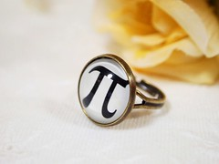 Pi Ring - A Mathematical Constant 3.14159... (So Constant As My Heart Would Be) (The Little Corner) Tags: christmas xmas school autumn white black men fall love boyfriend girl vintage circle student whimsy women girlfriend punk forsale geek heart symbol classmate handmade unique gothic goth adorable jewelry science romance retro ring highschool teacher number pi homemade gift math present nostalgic romantic mathematics casual forever accessories chic resin etsy token eternity darling playful unisex engineer geekery admirer ratio steampunk jewellry accessory adjustable tutor secretlove forher earthtone artfire etsycom antiquebrass forhim irrationalnumber mathematicalconstant unchange
